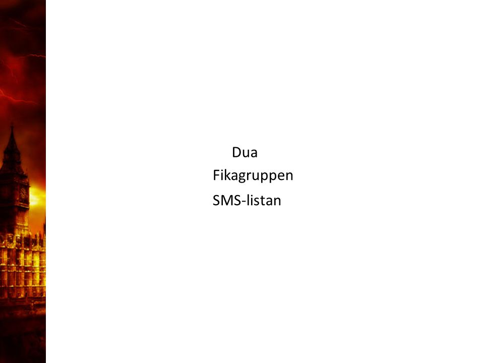 3. Delandet av månen Dua SMS-listan Fikagruppen