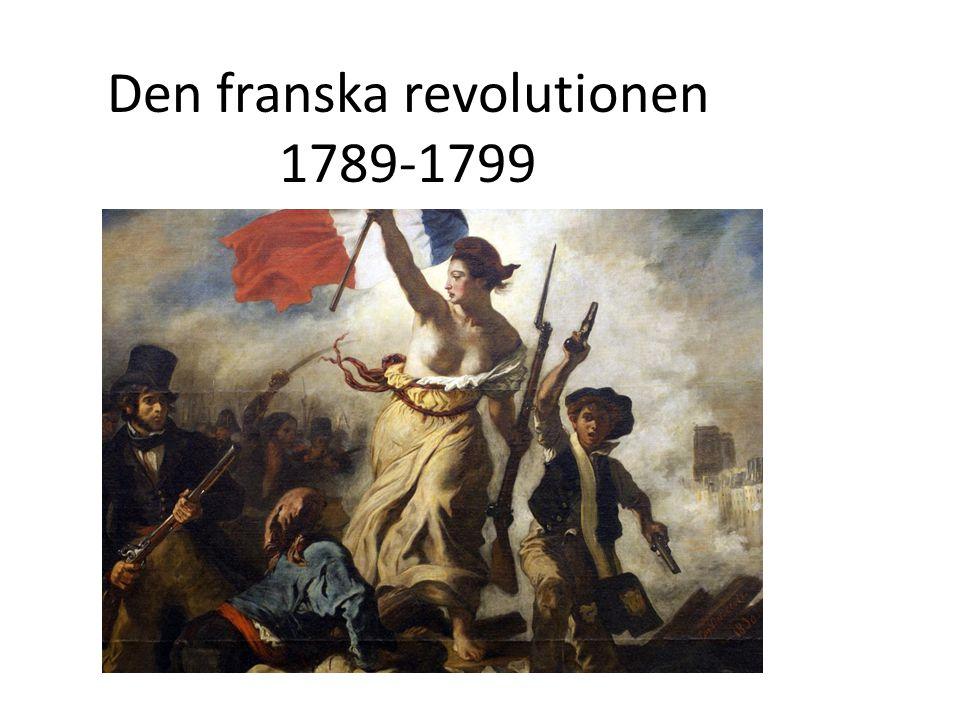 Den franska revolutionen 1789-1799
