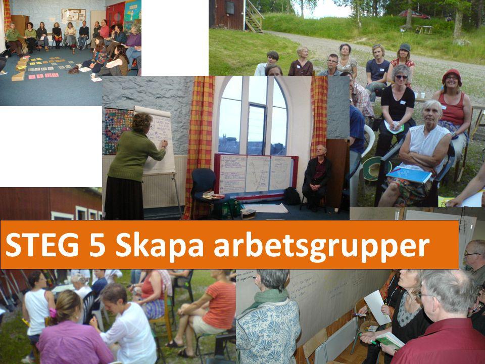 STEG 5 Skapa arbetsgrupper