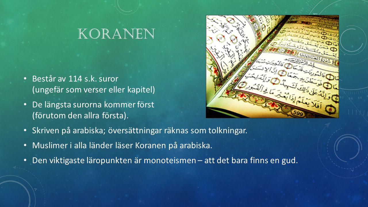 KORANEN Består av 114 s.k.