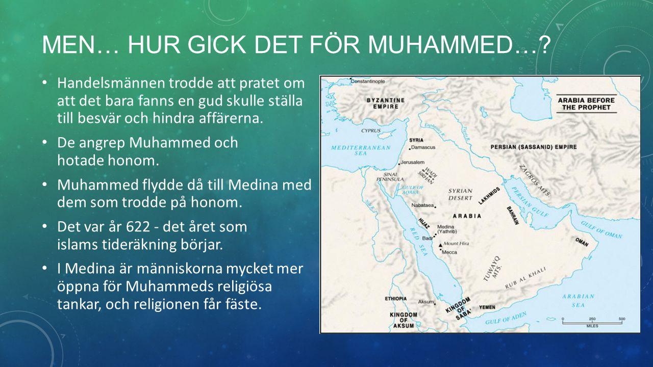 Efter tio år återvänder Muhammed med sin krigshär till Mecka, som besegras utan strid.