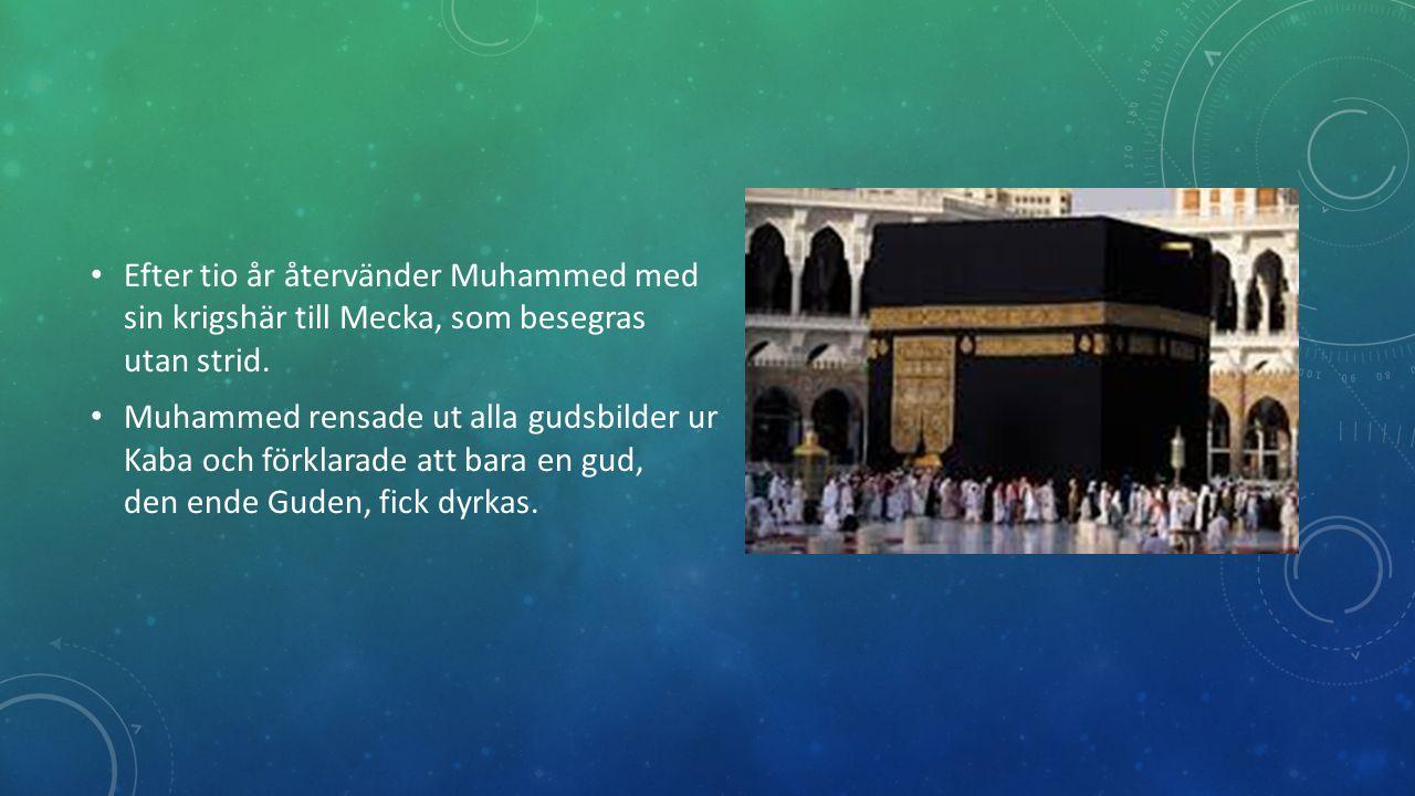 EFTER MUHAMMED Muhammed dog år 632.