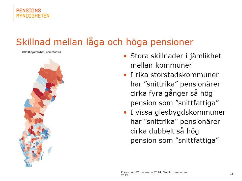 För att uppdatera sidfotstexten, gå till menyn: Visa/Sidhuvud och sidfot... Skillnad mellan låga och höga pensioner 16 Pressträff 22 december 2014: Så