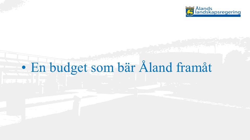 Stimulanspaket att stärka hushållens köpkraft genom ökade avdrag i kommunalbeskattningen och kompensera kommunerna för inkomstbortfallet Team Åland – En kraftsamling för tillväxt och inflyttning att främja digitalisering och internationalisering av näringslivet att de EU-delfinansierade programmen förverkligas med full kraft en aktiv arbetsmarknadspolitik utvecklingen av högskolan på Åland och en rekordstark investeringsnivå inkl.