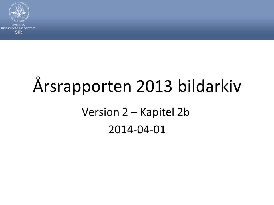 Årsrapporten 2013 bildarkiv Version 2 – Kapitel 2b 2014-04-01