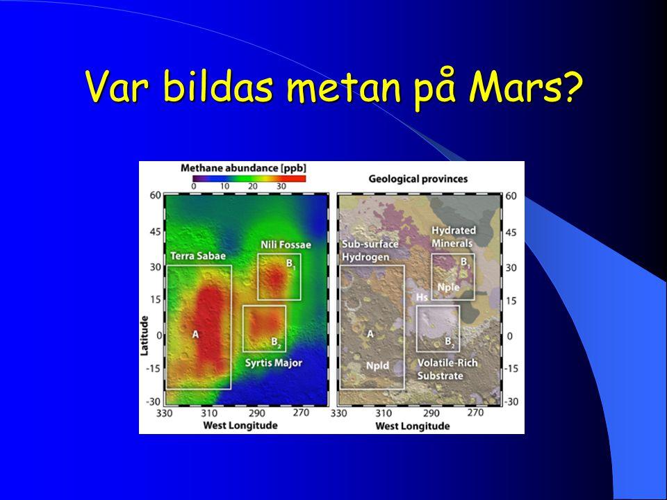 Var bildas metan på Mars?