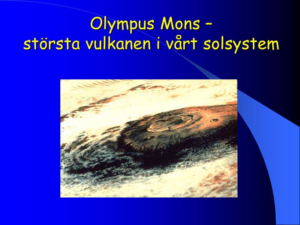 Olympus Mons – största vulkanen i vårt solsystem