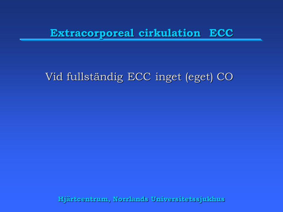 Extracorporeal cirkulation ECC Vid fullständig ECC inget (eget) CO