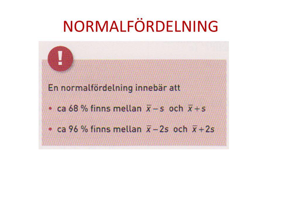 NORMALFÖRDELNING