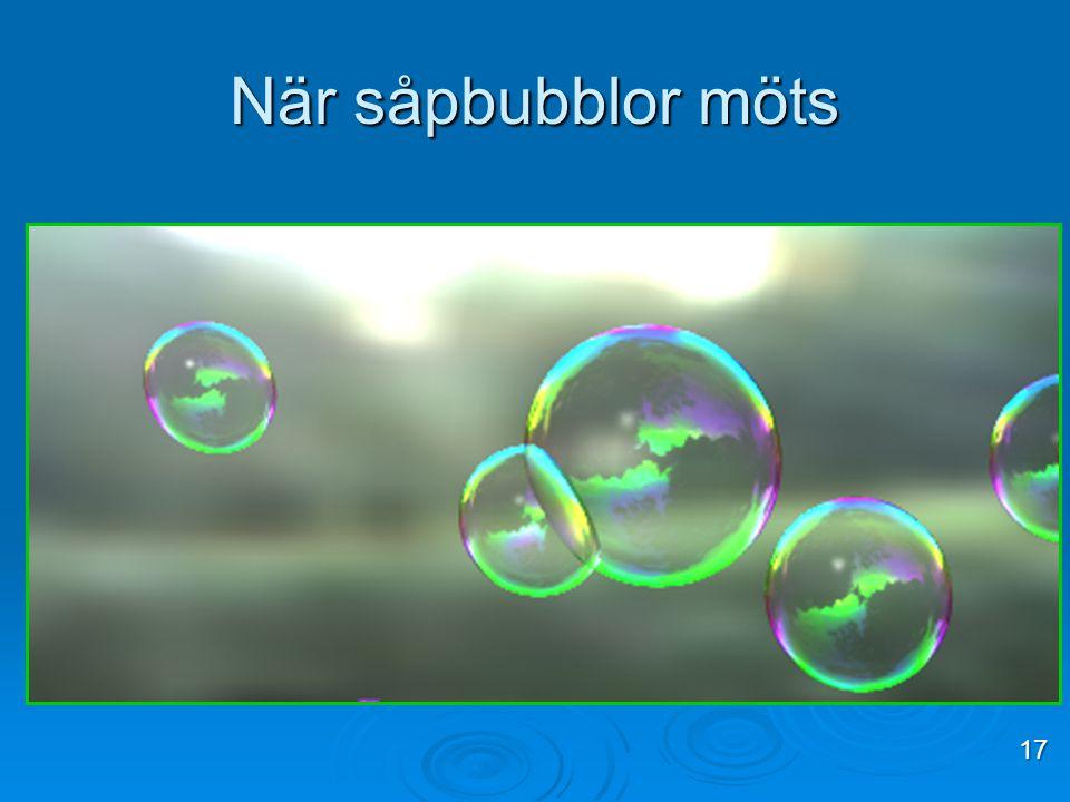 När såpbubblor möts 17