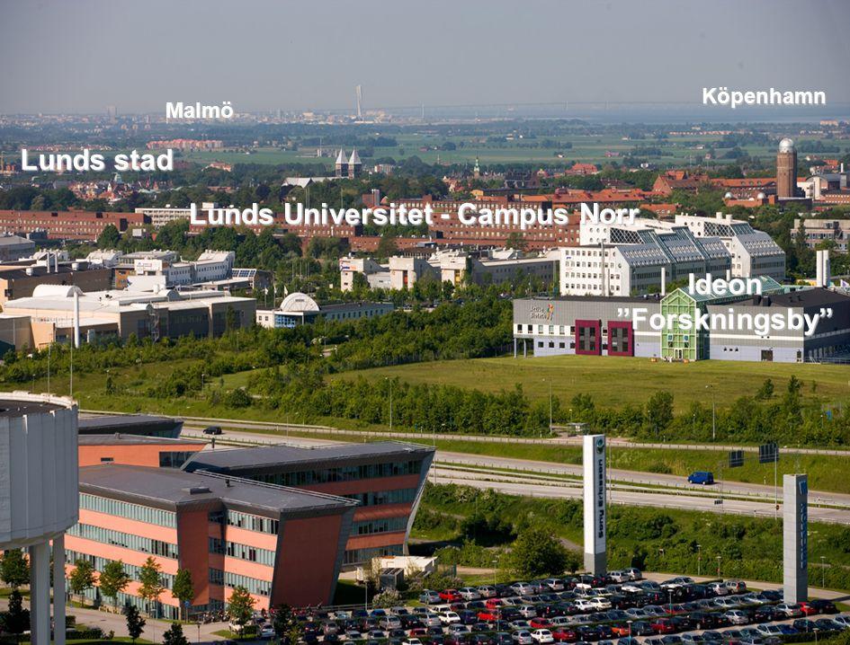 """Lunds Tekniska Högskola Ideon """"Forskningsby"""" Lunds Universitet - Campus Norr Malmö Köpenhamn Lunds stad Lunds stad"""
