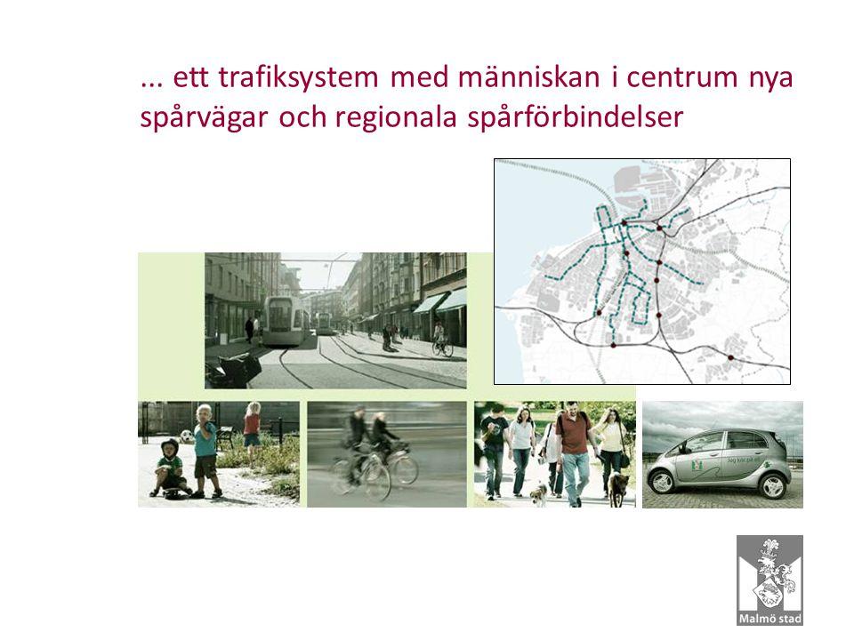 ... ett trafiksystem med människan i centrum nya spårvägar och regionala spårförbindelser