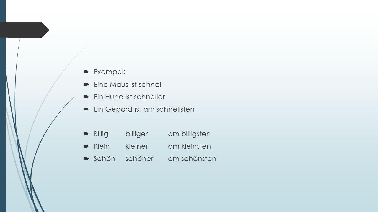  Vissa adjektiv får omljud  Se sid 85 arbetsboken för komplett lista  Altälteram ältesten (gammal)  Dummdümmeram dümmsten ( dum )  Groβgröβeram gröβten ( stor )