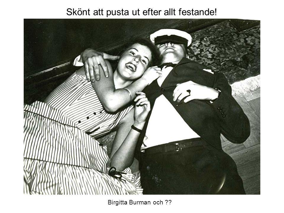 Skönt att pusta ut efter allt festande! Birgitta Burman och ??