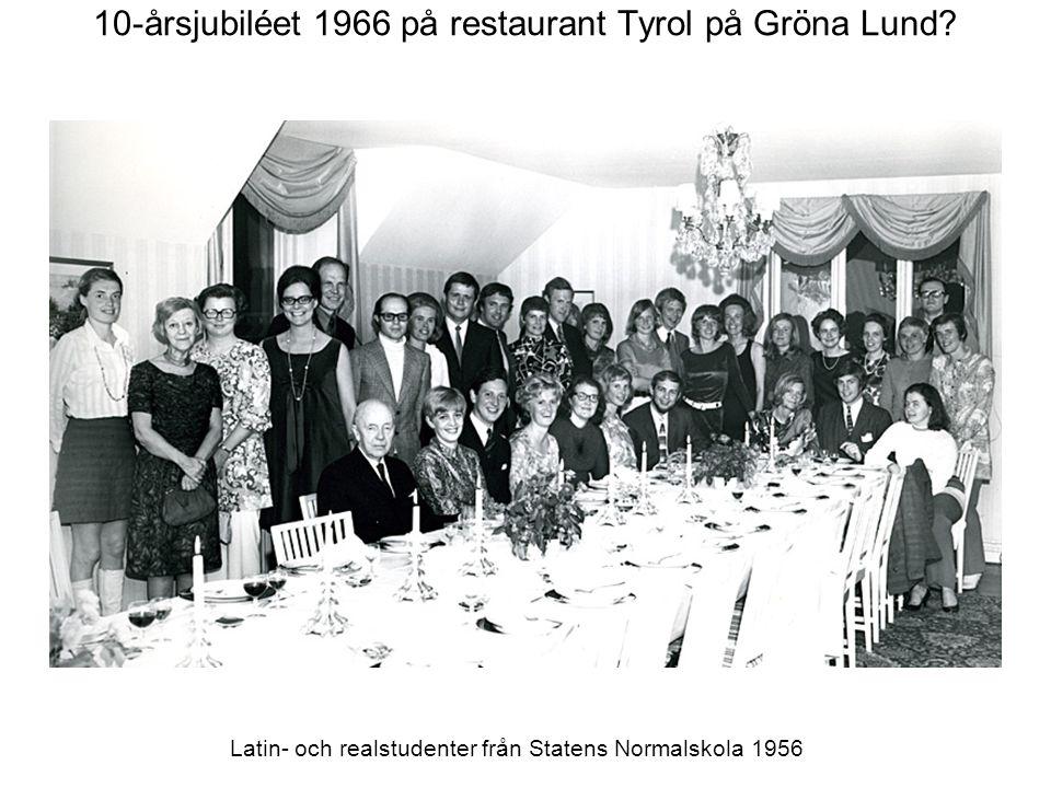 10-årsjubiléet 1966 på restaurant Tyrol på Gröna Lund.