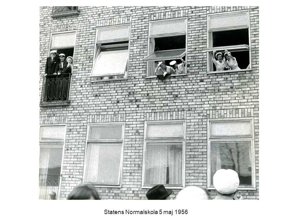 Höga studenter Statens Normalskola 5 maj 1956