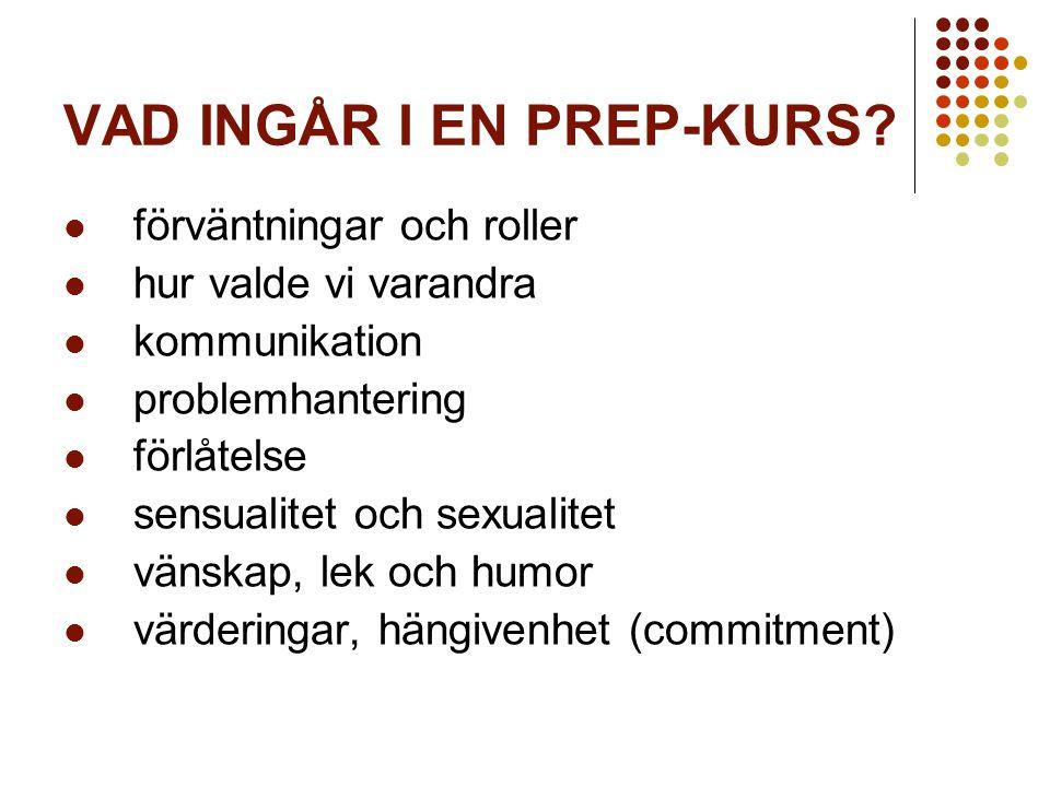 VAD INGÅR I EN PREP-KURS.