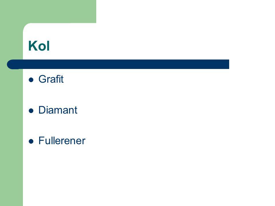 Kol Grafit Diamant Fullerener