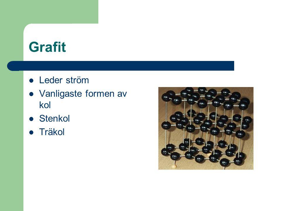 Diamant Högt tryck och hög värme Hårdaste ämnet Stabila bindningar Carat 1carat=200 mg