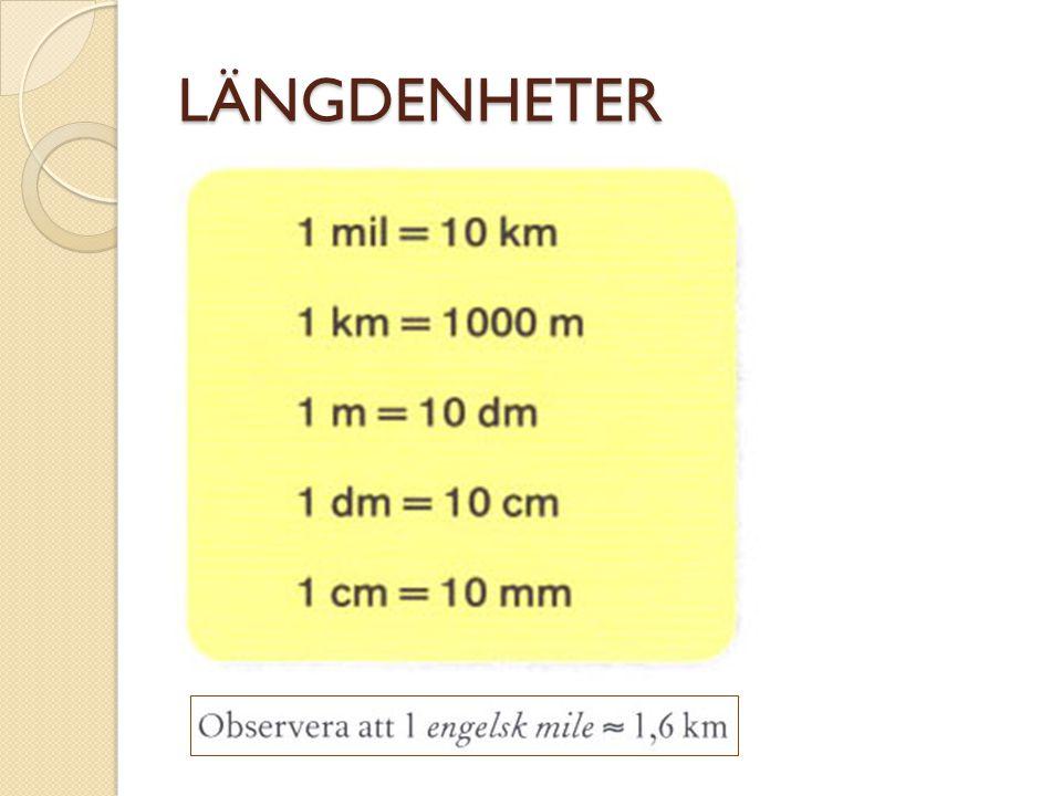 AREAENHETER 1 dm = 10 cm 1 cm 2