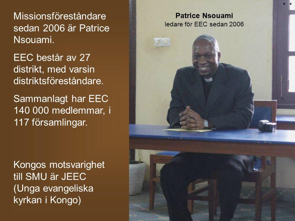 Missionsföreståndare sedan 2006 är Patrice Nsouami. EEC består av 27 distrikt, med varsin distriktsföreståndare. Sammanlagt har EEC 140 000 medlemmar,