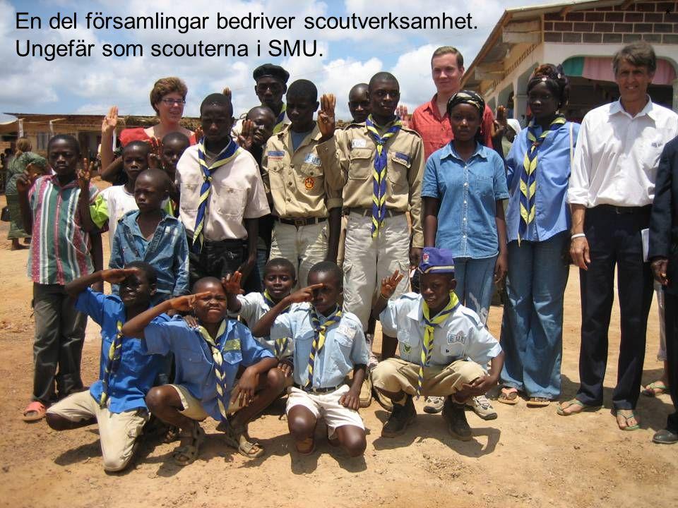En del församlingar bedriver scoutverksamhet. Ungefär som scouterna i SMU. *
