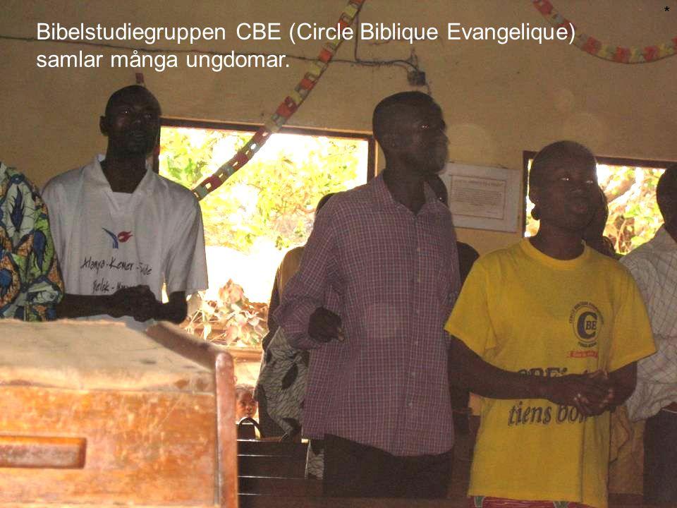 Bibelstudiegruppen CBE (Circle Biblique Evangelique) samlar många ungdomar. *