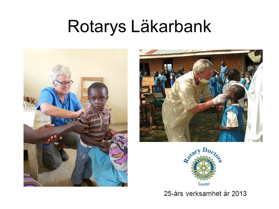 Rotarys Läkarbank 25-års verksamhet år 2013