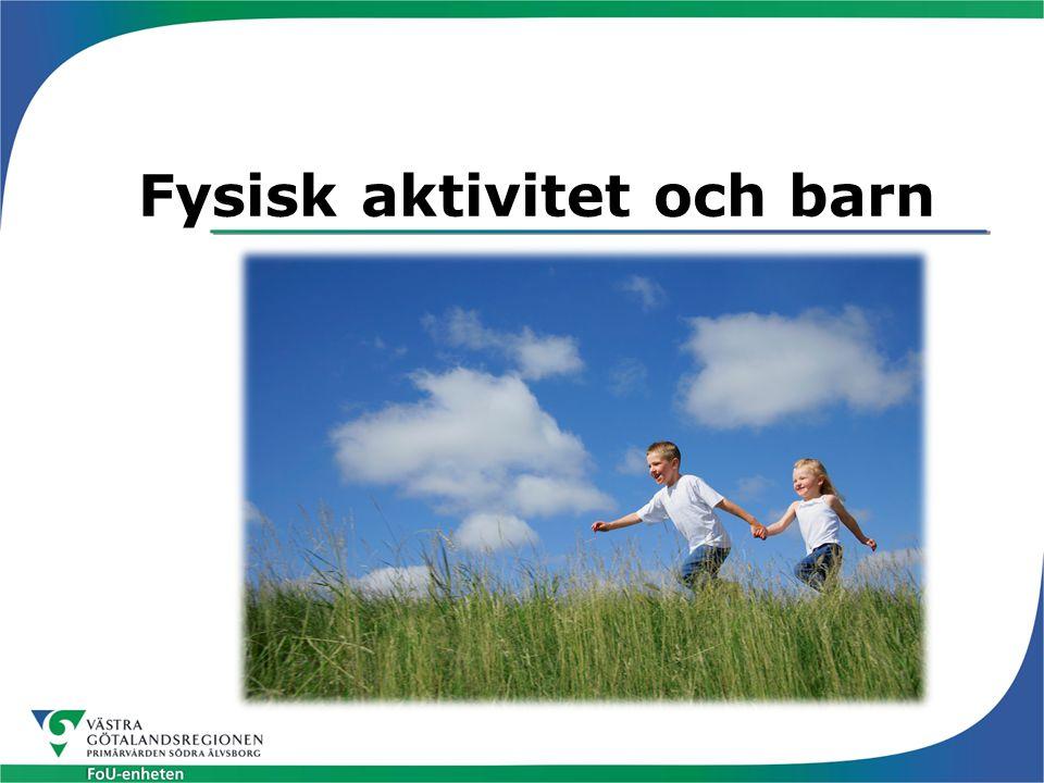 Vad är fysisk aktivitet (1) Med fysisk aktivitet avses all kroppsrörelse som är en följd av skelettmuskulaturens sammandragning och som resulterar i ökad energiförbrukning Caspersen CJ, Powell KE, Christenson GM.