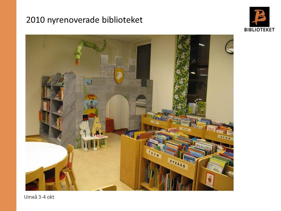 Umeå 3-4 okt 2010 nyrenoverade biblioteket