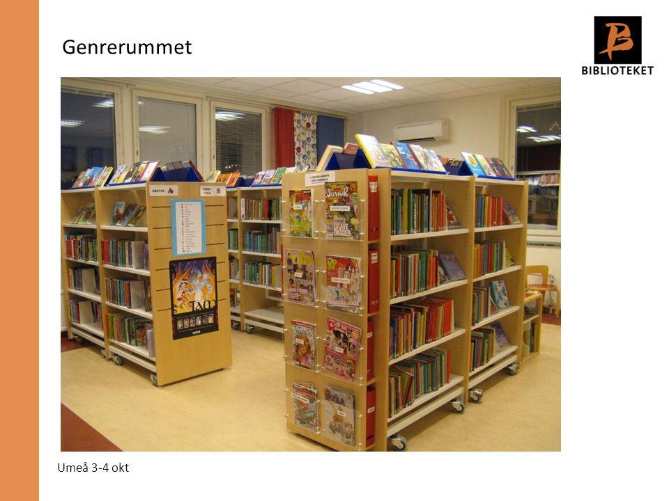 Umeå 3-4 okt Genrerummet