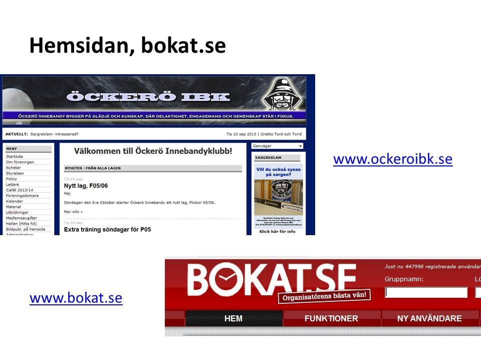 www.ockeroibk.se www.bokat.se Hemsidan, bokat.se