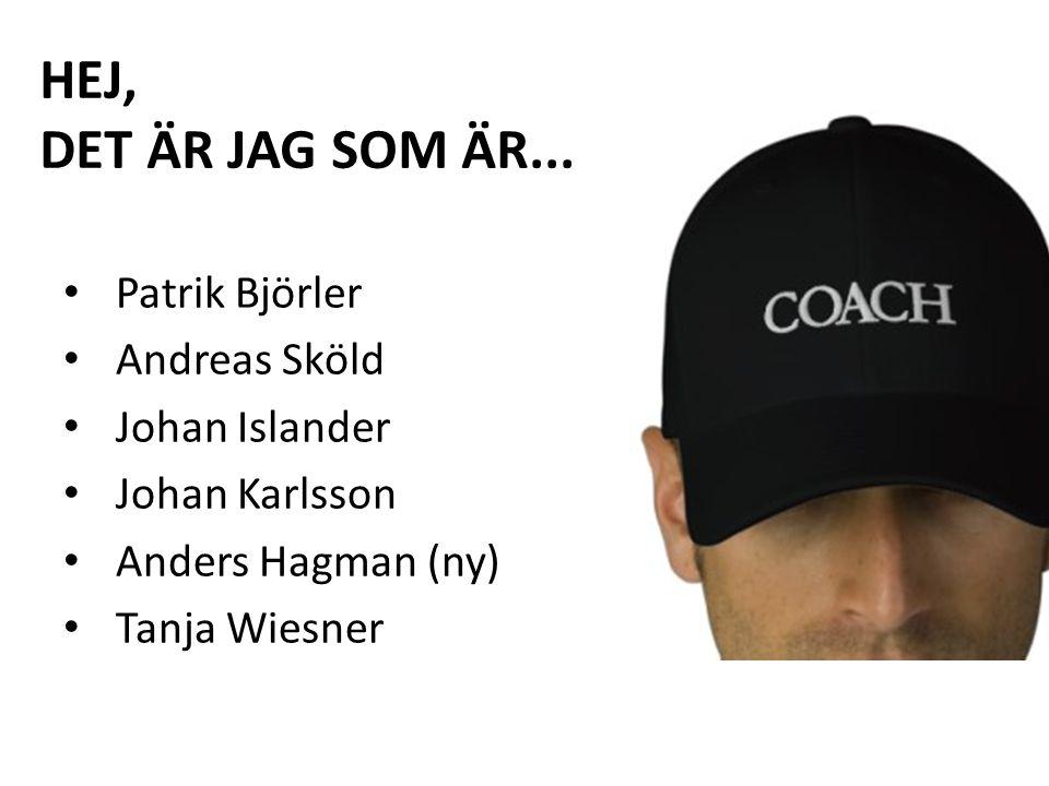 HEJ, DET ÄR JAG SOM ÄR... Patrik Björler Andreas Sköld Johan Islander Johan Karlsson Anders Hagman (ny) Tanja Wiesner