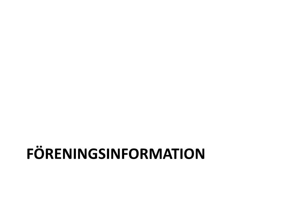 FÖRENINGSINFORMATION