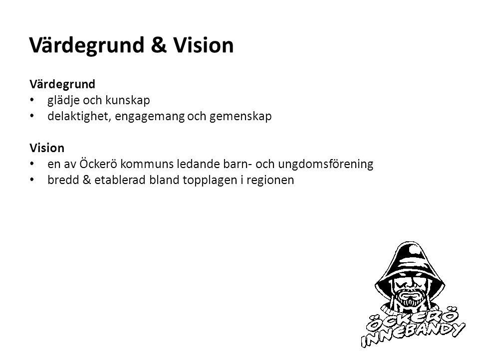 Värdegrund & Vision Värdegrund glädje och kunskap delaktighet, engagemang och gemenskap Vision en av Öckerö kommuns ledande barn- och ungdomsförening bredd & etablerad bland topplagen i regionen