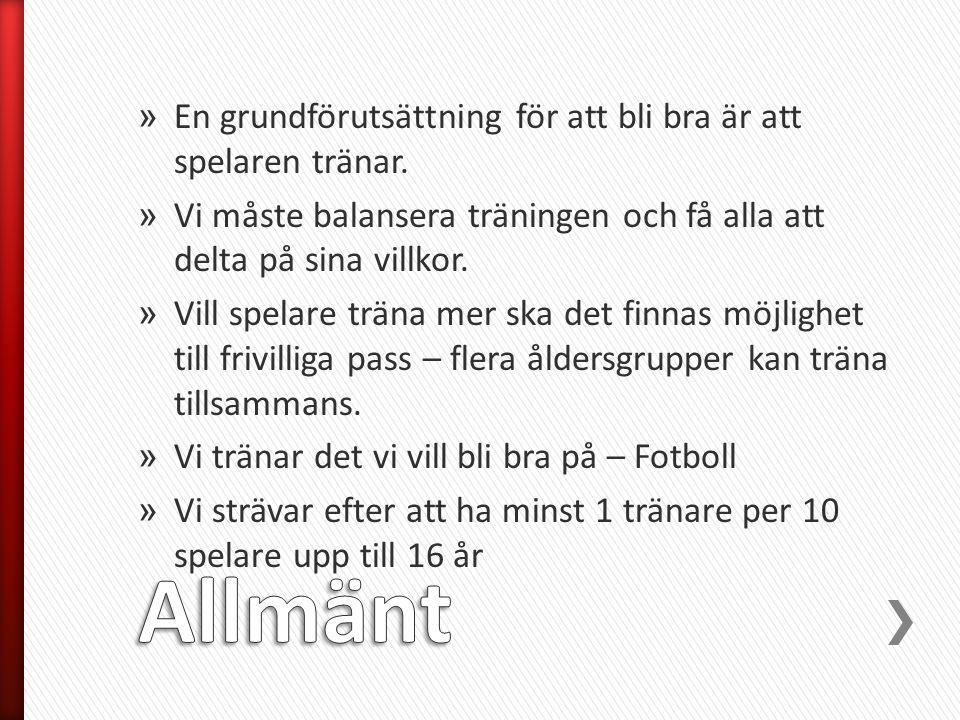 » Vi utgår från Svenska Fotbollsförbundets spelarutbildningsplan och översiktsbilden - Vad är fotboll.