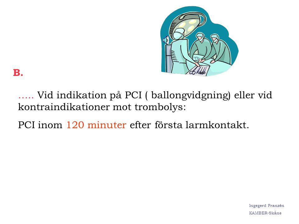 Ingegerd Franzén KAMBER-Skåne Kontraindikationer mot Prehospital Trombolys: År 2002: 57 st År 2003: 51 st Ingegerd Franzén KAMBER-Skåne