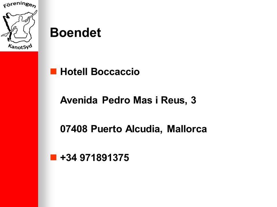 Boendet Hotell Boccaccio Avenida Pedro Mas i Reus, 3 07408 Puerto Alcudia, Mallorca +34 971891375
