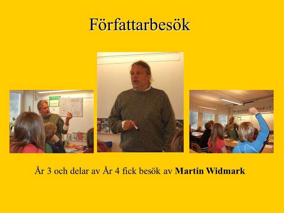 Författarbesök År 3 och delar av År 4 fick besök av Martin Widmark