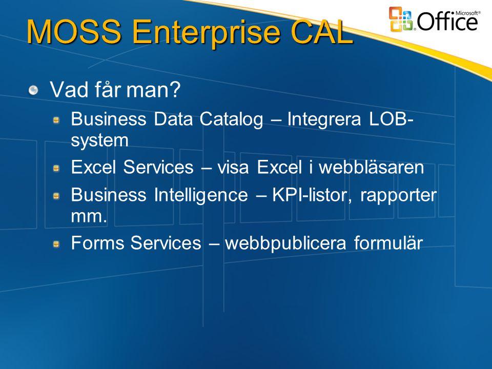 MOSS Enterprise CAL Vad får man.