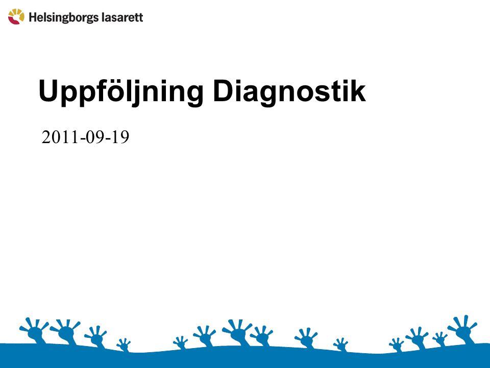 Uppföljning Diagnostik 2011-08 2011-09-19
