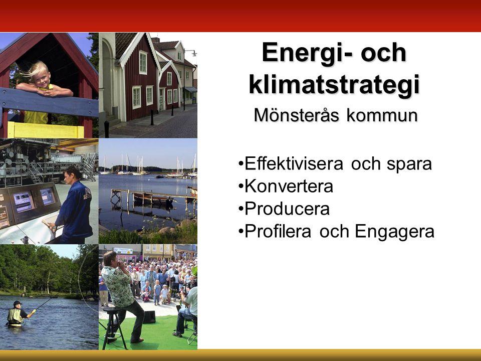 Mönsterås kommun Energi- och klimatstrategi Effektivisera och spara Konvertera Producera Profilera och Engagera