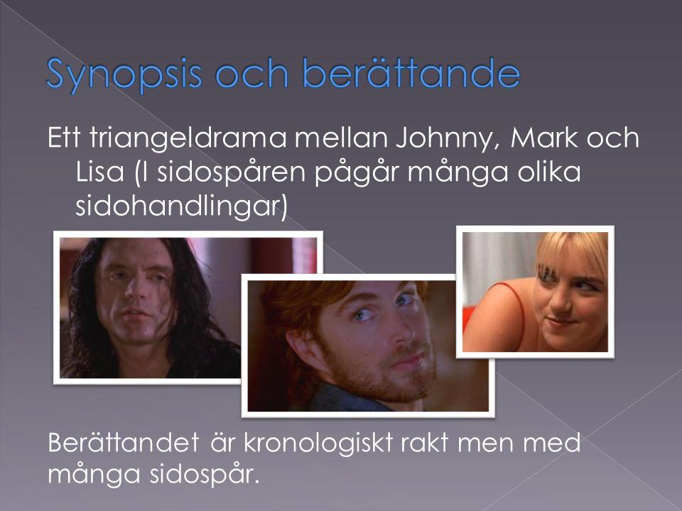 Ett triangeldrama mellan Johnny, Mark och Lisa (I sidospåren pågår många olika sidohandlingar) Berättandet är kronologiskt rakt men med många sidospår.