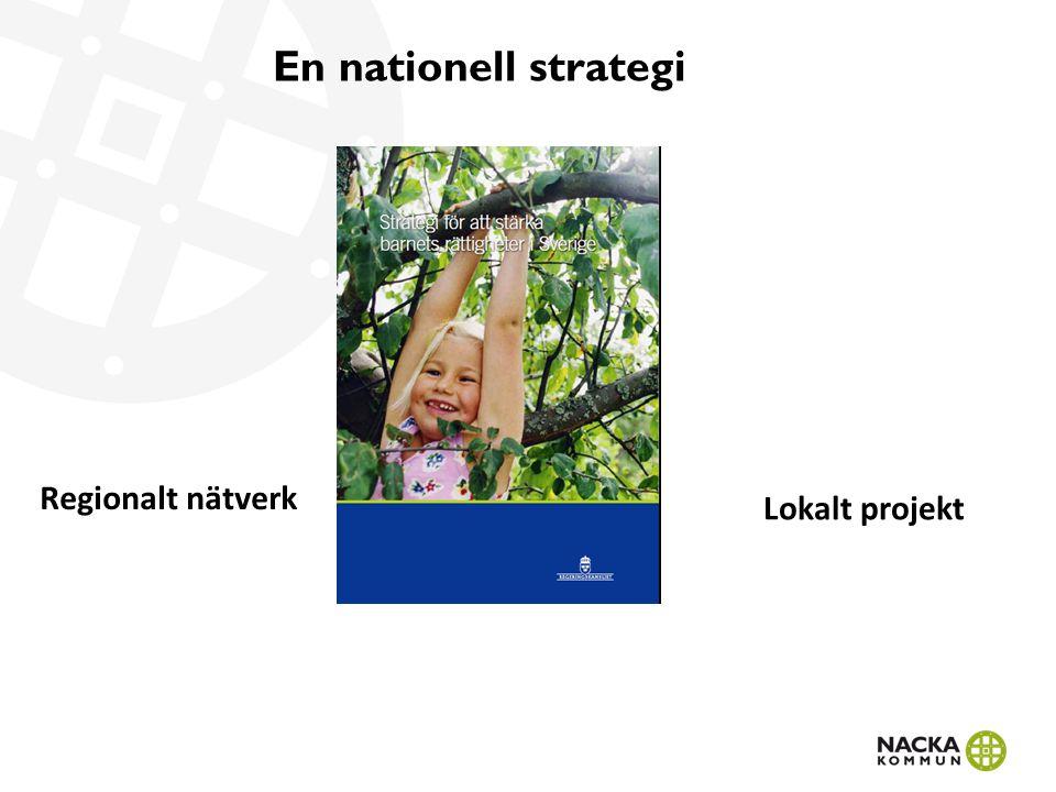 En nationell strategi Regionalt nätverk Lokalt projekt