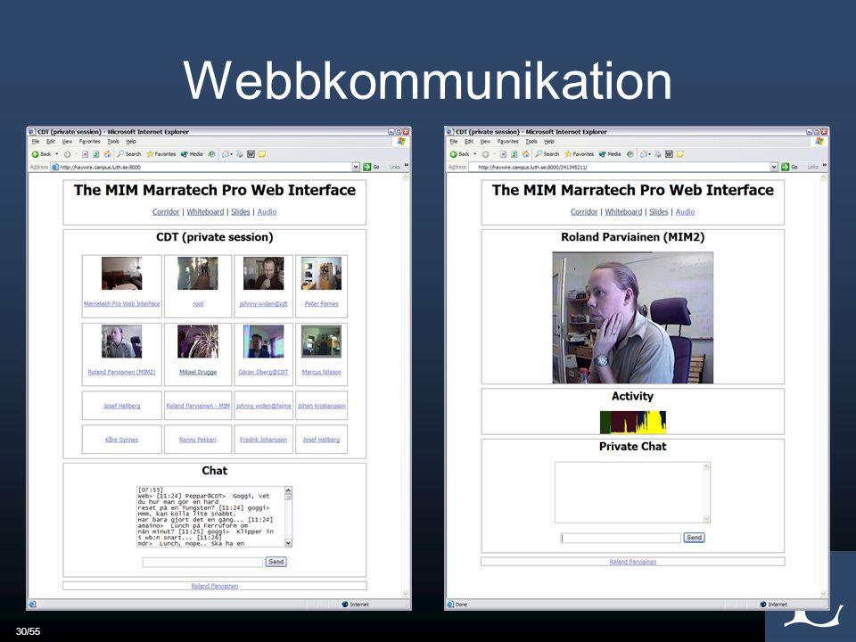 30/55 Webbkommunikation