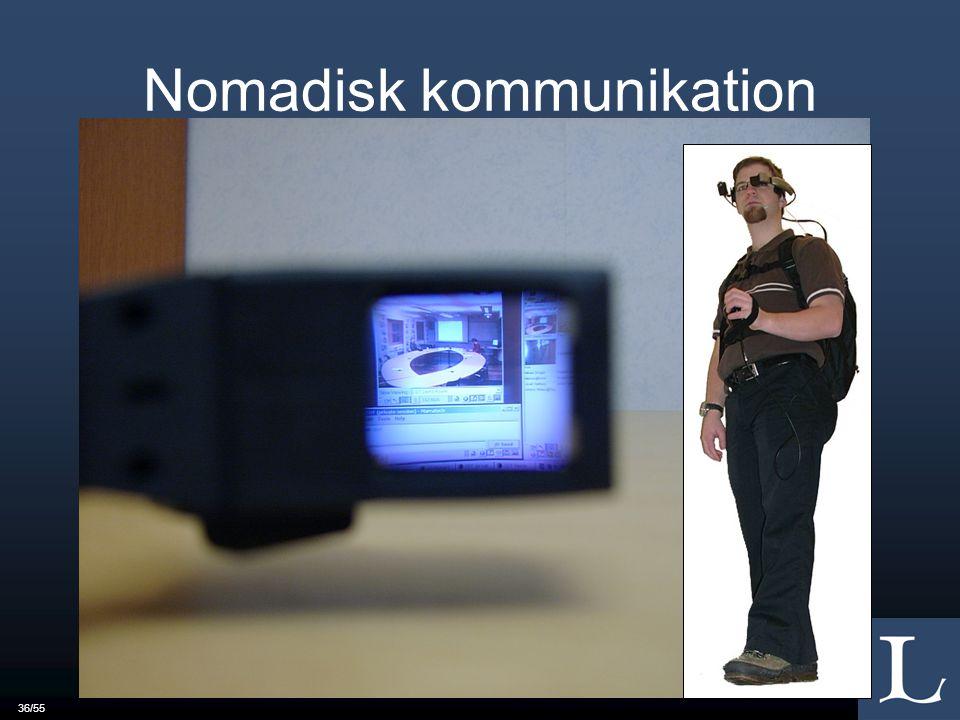 36/55 Nomadisk kommunikation