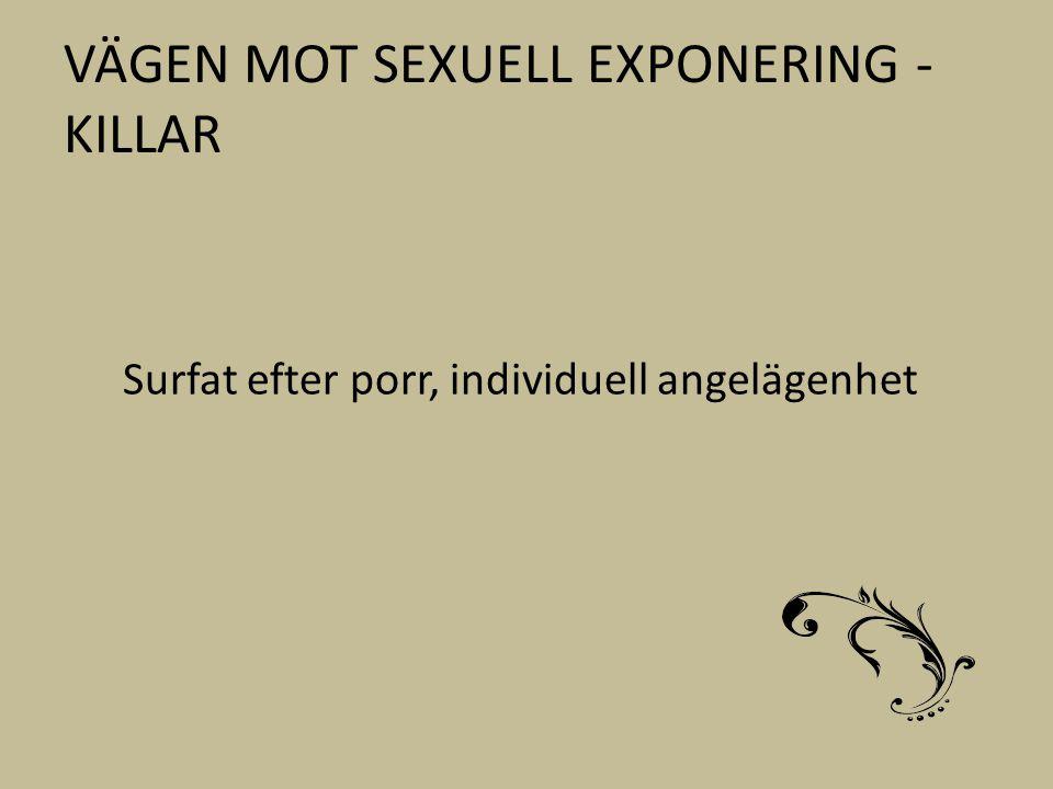 VÄGEN MOT SEXUELL EXPONERING - KILLAR Surfat efter porr, individuell angelägenhet