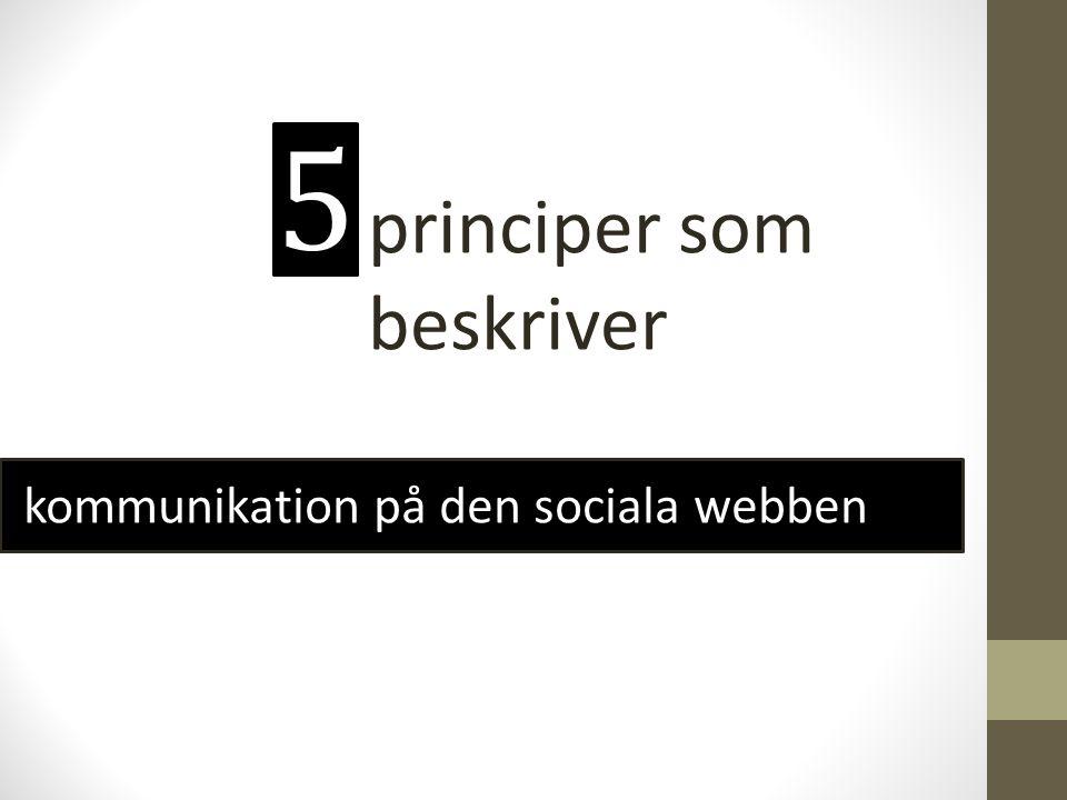 5 principer som beskriver kommunikation på den sociala webben