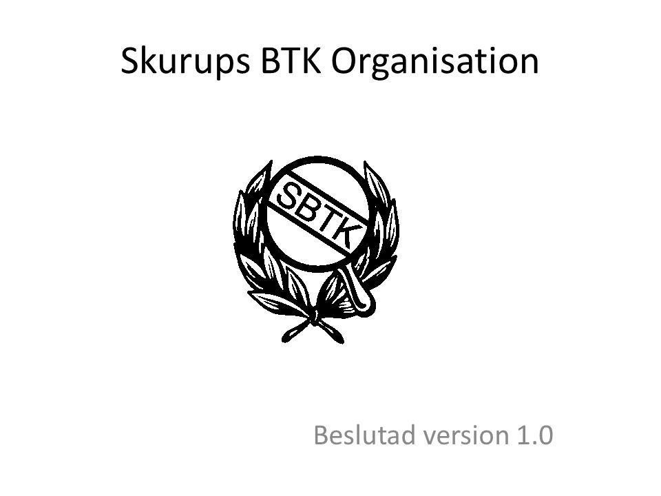 Skurups BTK Organisation Beslutad version 1.0