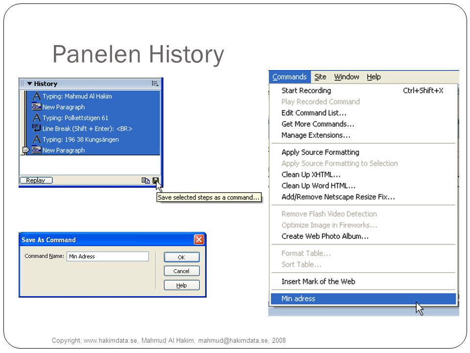 Panelen History Copyright, www.hakimdata.se, Mahmud Al Hakim, mahmud@hakimdata.se, 2008 15